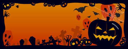citrouille halloween: Arri�re-plan de Halloween
