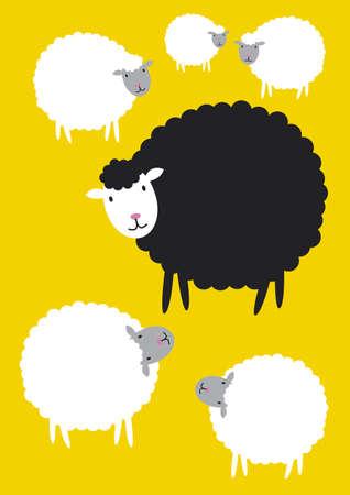 zwart schaap: Zwarte schapen concepten