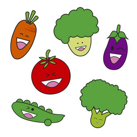 vegetable cartoon: Dibujos animados de verduras