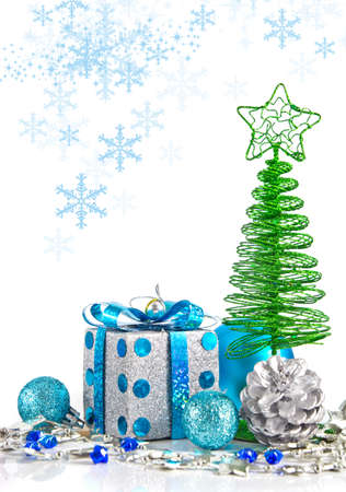 blue backgrounds: Christmas decoration
