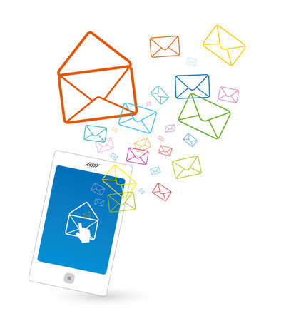 conection: Sending SMS  Illustration