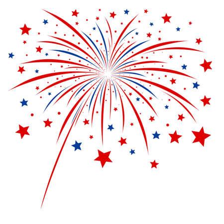 Firework design on white background Illustration