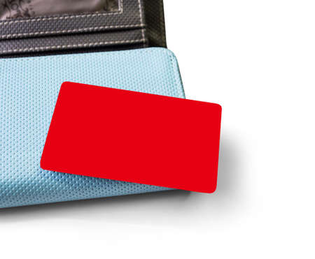 Blank credit card and  wallet on white background with clipping path photo