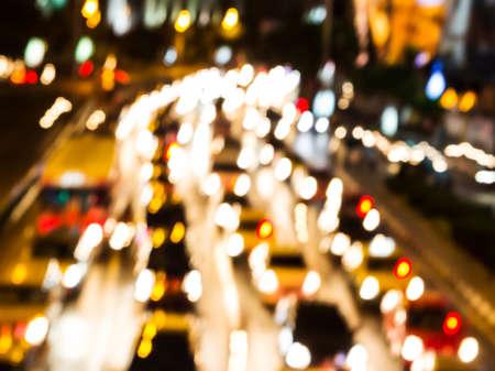 Night traffic  Motion blur  photo