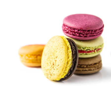 Macaroon on white background  photo