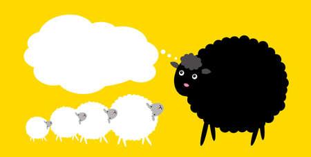 zwart schaap: