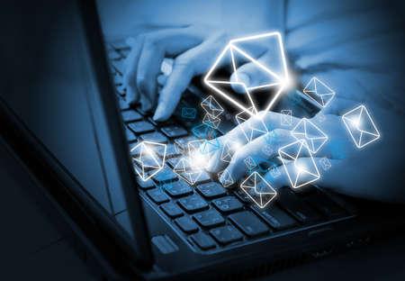 correo electronico: Env�o de correo electr�nico Foto de archivo