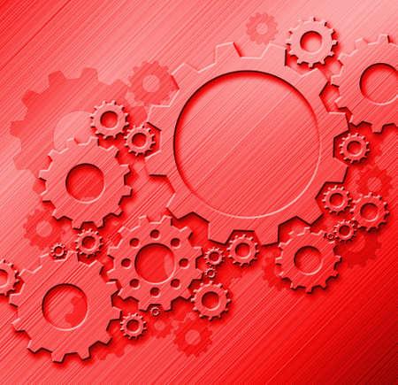 metal gears: Metal gears design on metal background