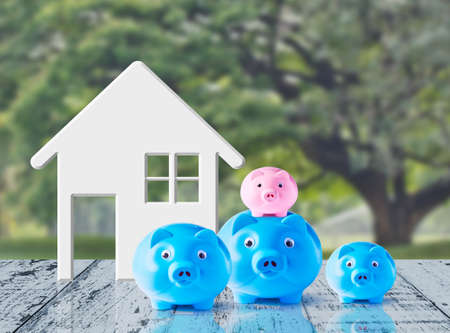 piggybank: Business concept of saving for family Stock Photo