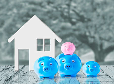 Business concept of saving for family photo