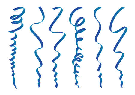 Set of blue ribbons design Illustration