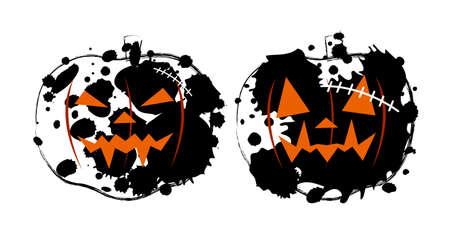 insulto: Dise�o de la calabaza de Halloween sobre fondo blanco