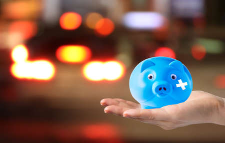 misadventure: Saving money concepts for road accident Stock Photo
