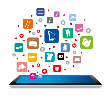 online business: Shopping online design