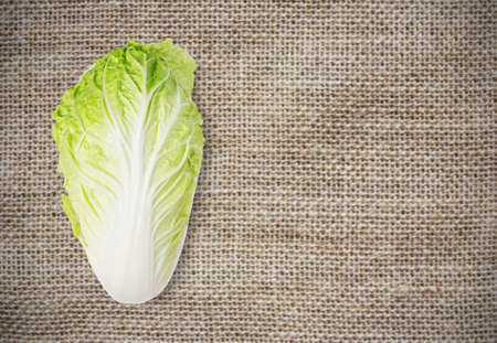 nappa: Chinese cabbage on sackcloth background