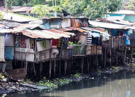 slum: Slum in bangkok, thailand