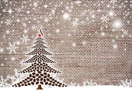 コーヒー豆のクリスマス ツリーの設計 写真素材