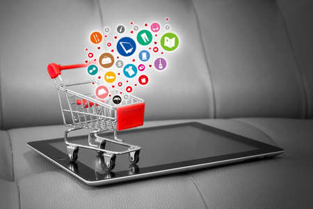 Shopping online concepts Stockfoto