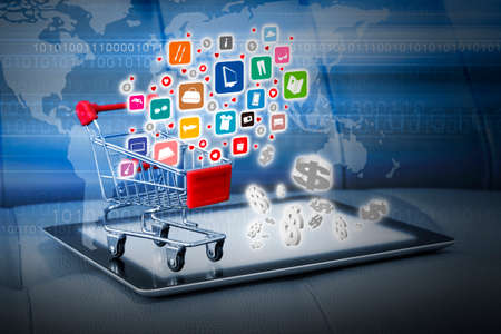 ecommerce icons: Shopping online concepts Stock Photo