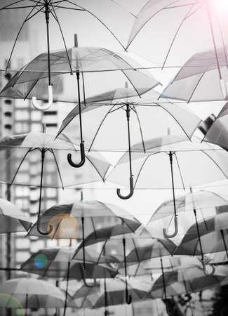 pellucid: Umbrellas decoration in the city