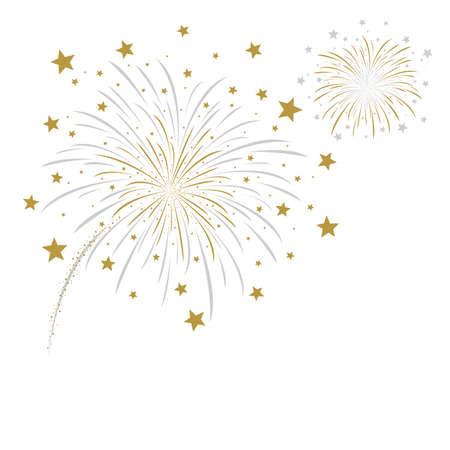 Vector firework design on white background
