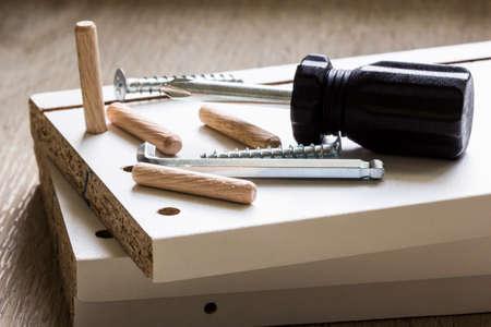 Furniture assembly Standard-Bild