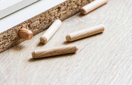 dowel: Wood dowel
