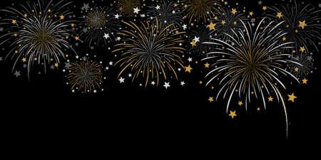 Vector fireworks design Illustration