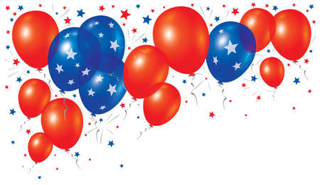 Vector balloons on white background
