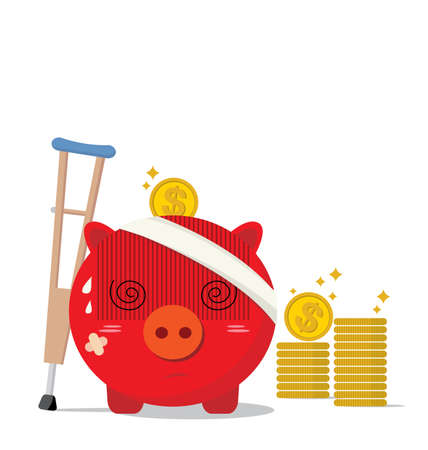 diseased: Piggy bank design of accident concepts