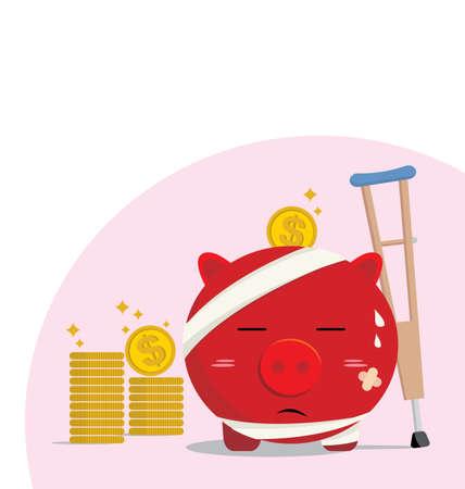 Piggy bank design of accident concepts