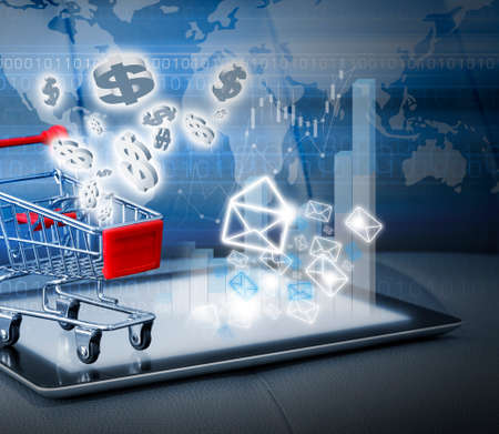 shopping online: Email marketing