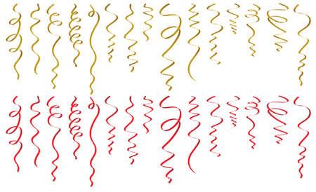 enrich: Set of ribbons on white background Illustration