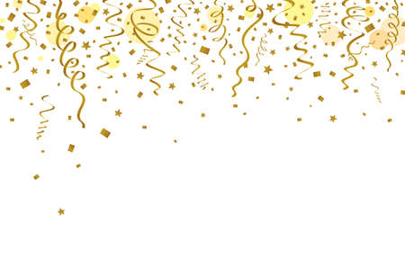 waft: Gold ribbons background