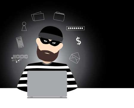 telefono caricatura: Dise�o del vector hacker Vectores