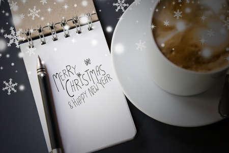 comida de navidad: Feliz Navidad y Próspero Año Nuevo Foto de archivo