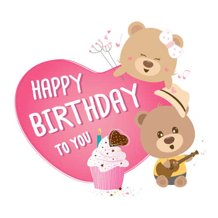 happy birthday vector: Happy birthday to you