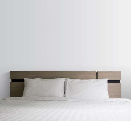 bedroom wall: Bed in the bedroom