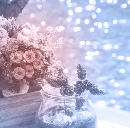 flower pot: Flowers in the flower pot