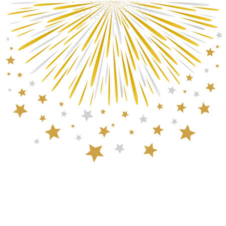 new years background: Firework design on white background Illustration