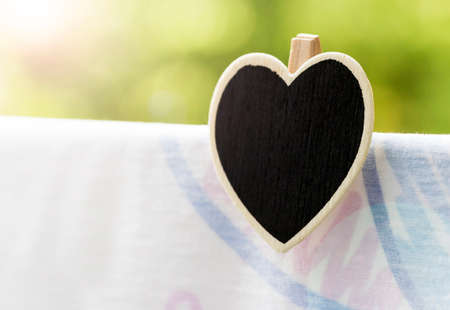 clothespin: Love concepts of wooden heart clothespin