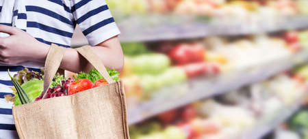 Young woman are shopping in the supermarket