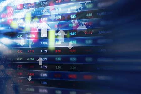 la conception d'arrière-plan du marché boursier Banque d'images