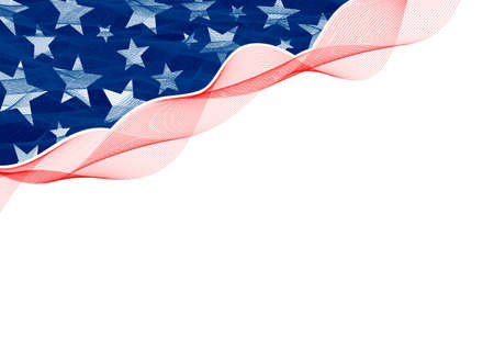 Abstract background design of american flag