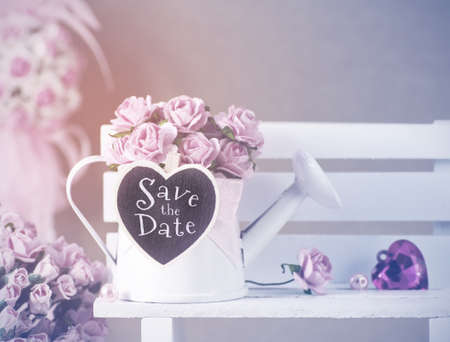 mated: Save the date vintage style
