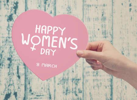 8 de marzo Día de la Mujer feliz Foto de archivo - 53234860