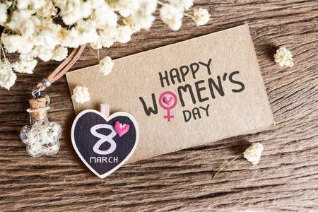 8 de marzo Día de la Mujer feliz Foto de archivo - 53234829