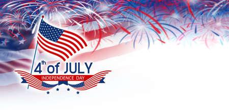 7 月 4 日独立記念日 写真素材