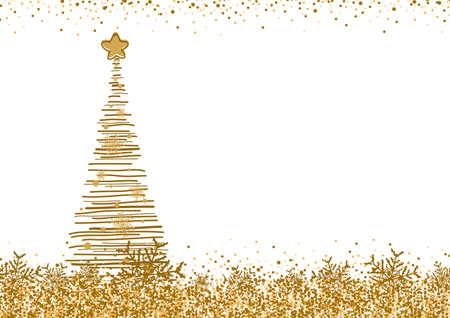 Vector christmas tree design on white background