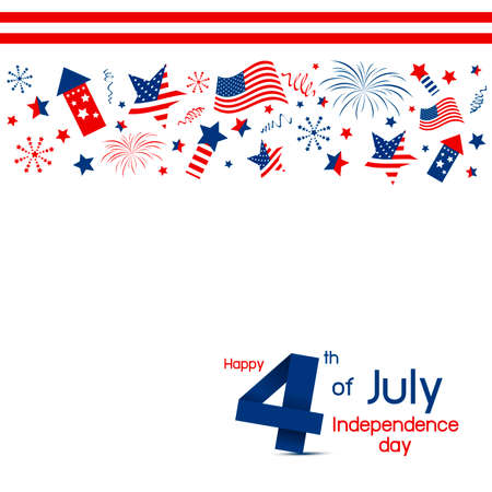 Vector USA 4 of july happy independence day design on white background